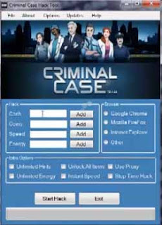 Criminal Case Hack Cheats Trainer Tool 2013
