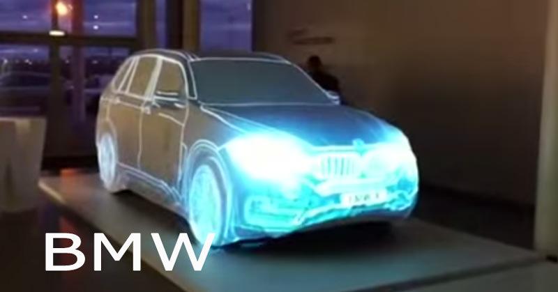BMW車を使ったプロジェクションマッピングがカッコイイ