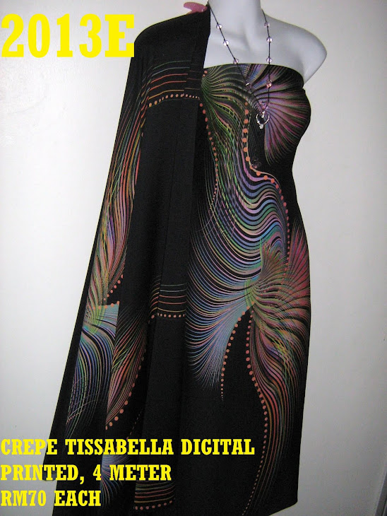 CTD 2013E: CREPE TISSABELLA DIGITAL PRINTED, EXCLUSIVE DESIGN, 4 METER