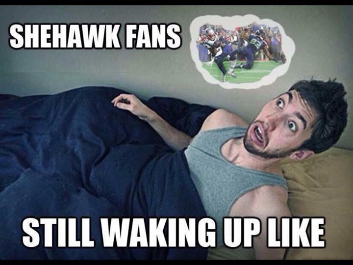 #seahawkshaters #SuperbowlXLIX #nfl.- seahawk fans, still waking up like.