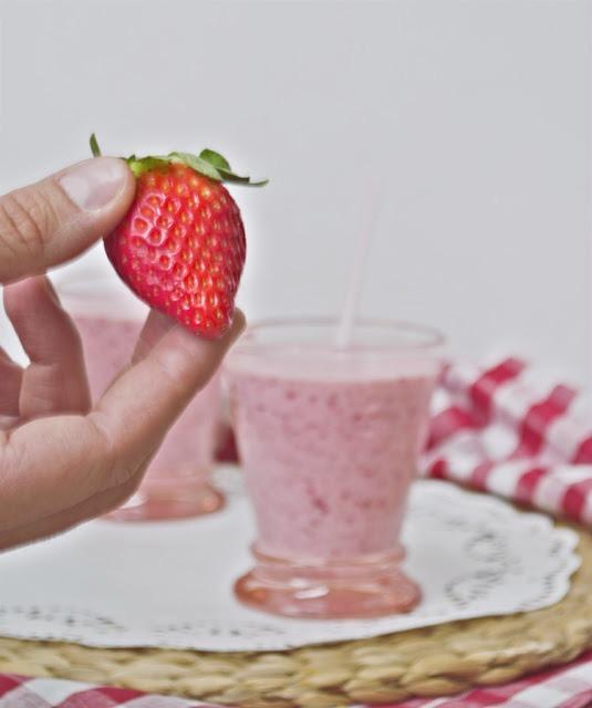 receta de batido de fresas