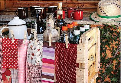 Decoração de festa junina mesa das bebidas