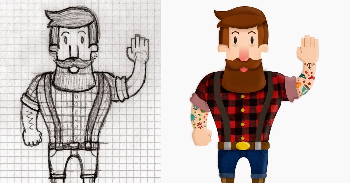 Coloreado del boceto de Personaje para un Curso de @Domestika impartido por Bakea