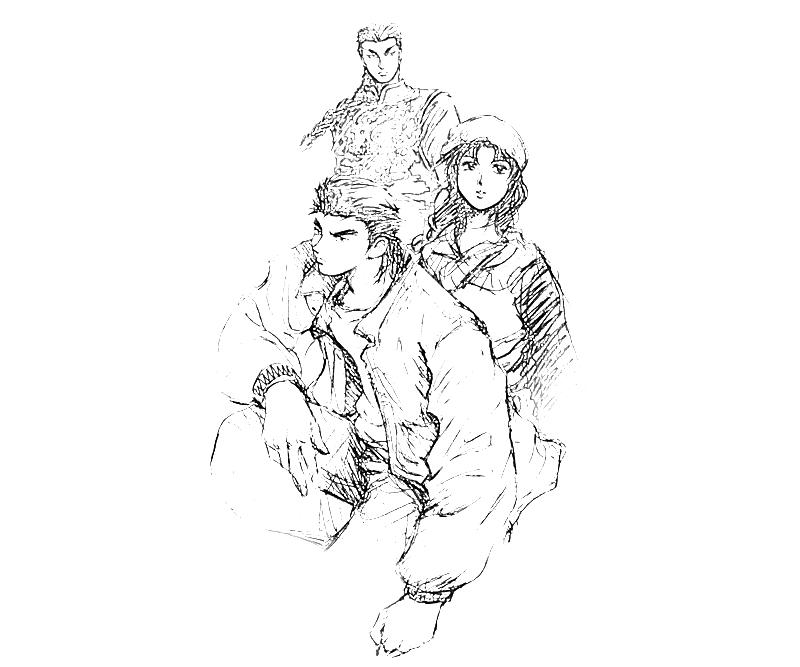 printable-shenmue-dojo-characters_coloring-pages