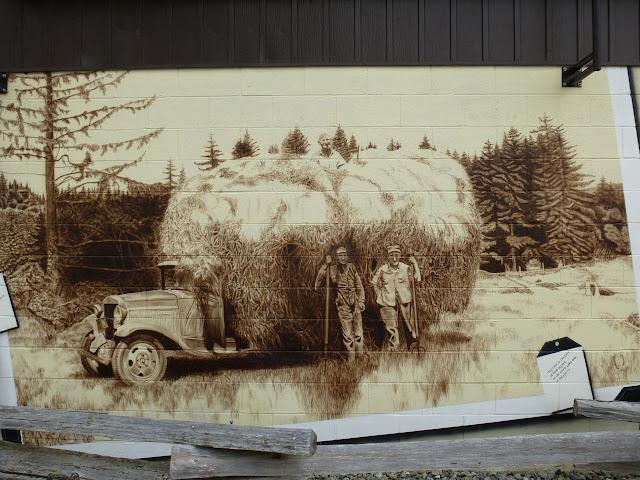 Sooke Agriculture Historum mural - hay load