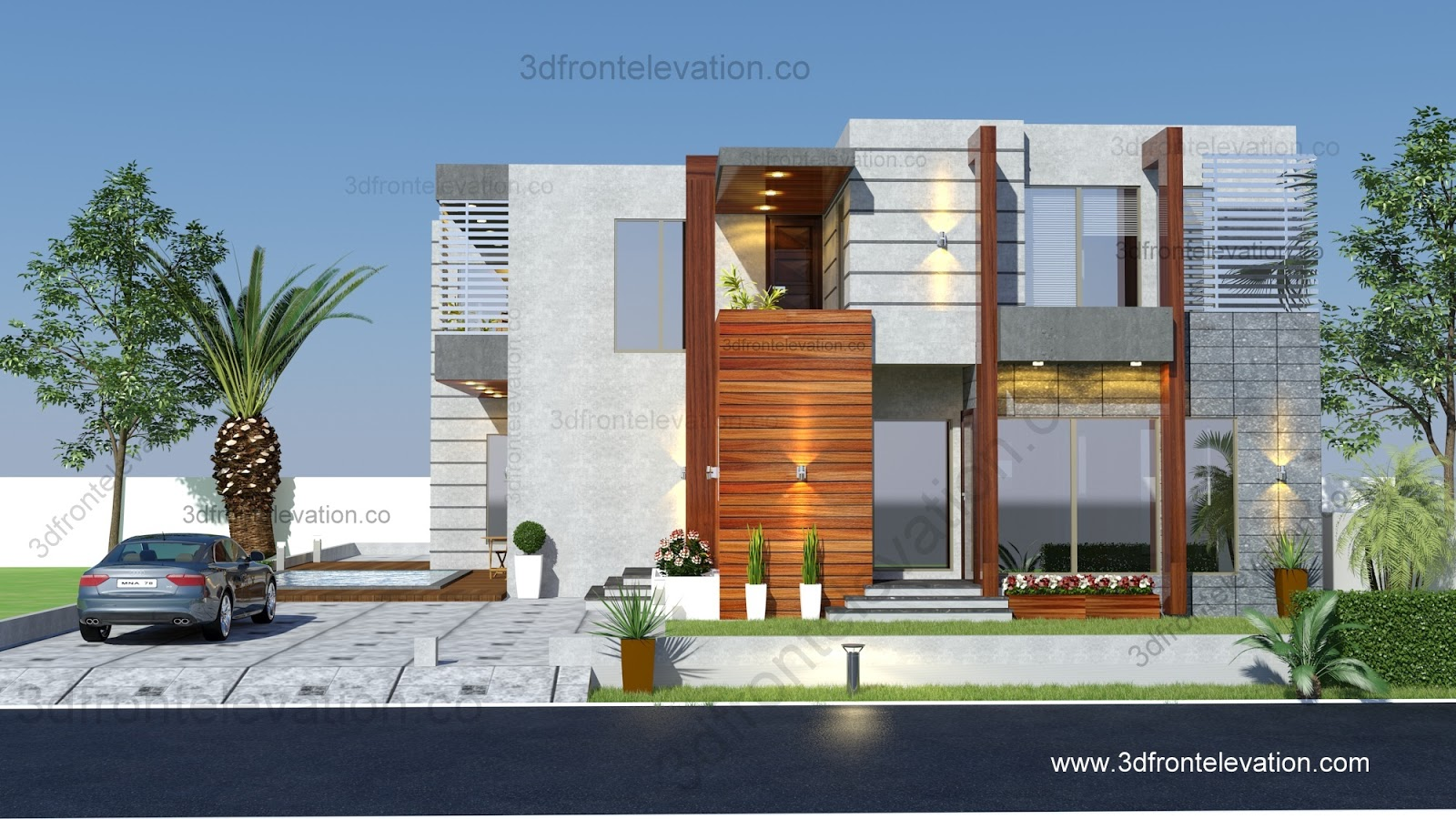 Farm house plan for Best house front design