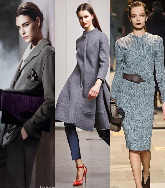 Como conjugar a cor cinza - Tendencia outono-inverno 2015-2016