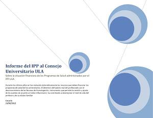 Informe IPP ULA al CU ULA
