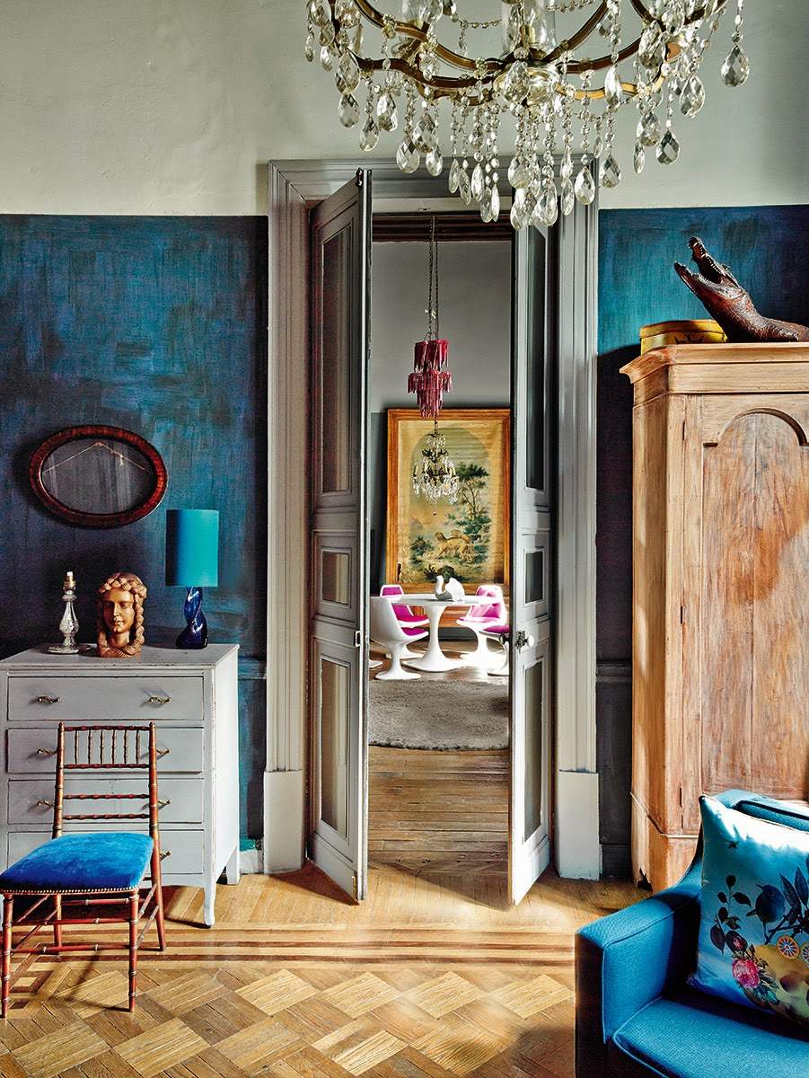 gloriously colourful home in Spanish Architectural Digest