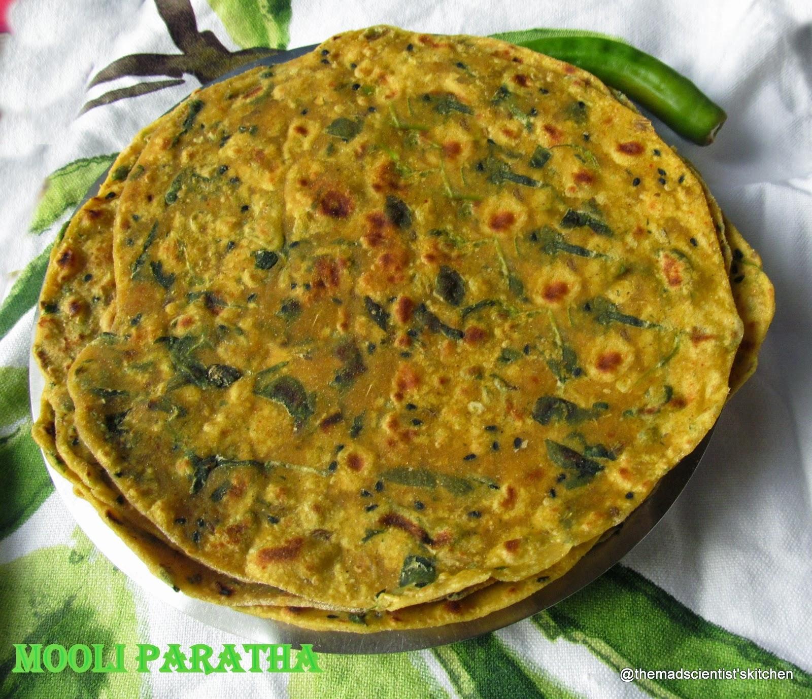 Mooli ke Parathe/ Raddish Paratha Indian Flat Bread