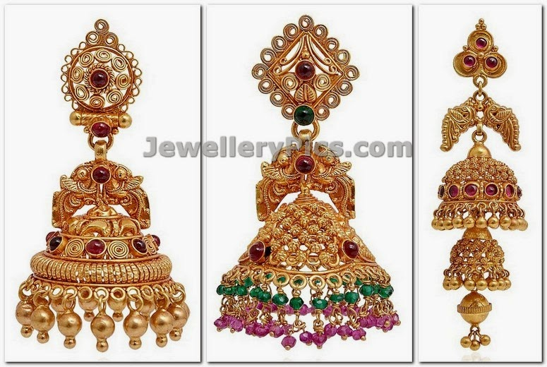 antique jhumkas in grt latest 2014 collection