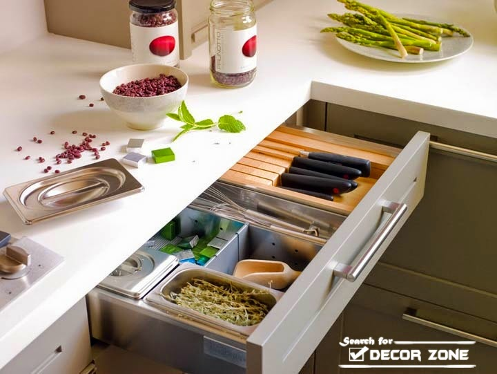 Modern Kitchen Interior Design Ideas Part - 48: Modern Kitchen Interior Design - Sliding Drawers For Storage