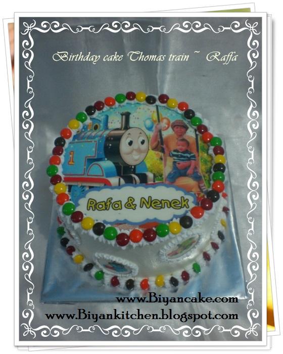 Pesan Kue tart di bekasi : Kue Tart fhoto Kereta Thomas ~ Raffa