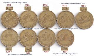 Moneda 1 Nuevo Peso 1892 50+centavos+18000002