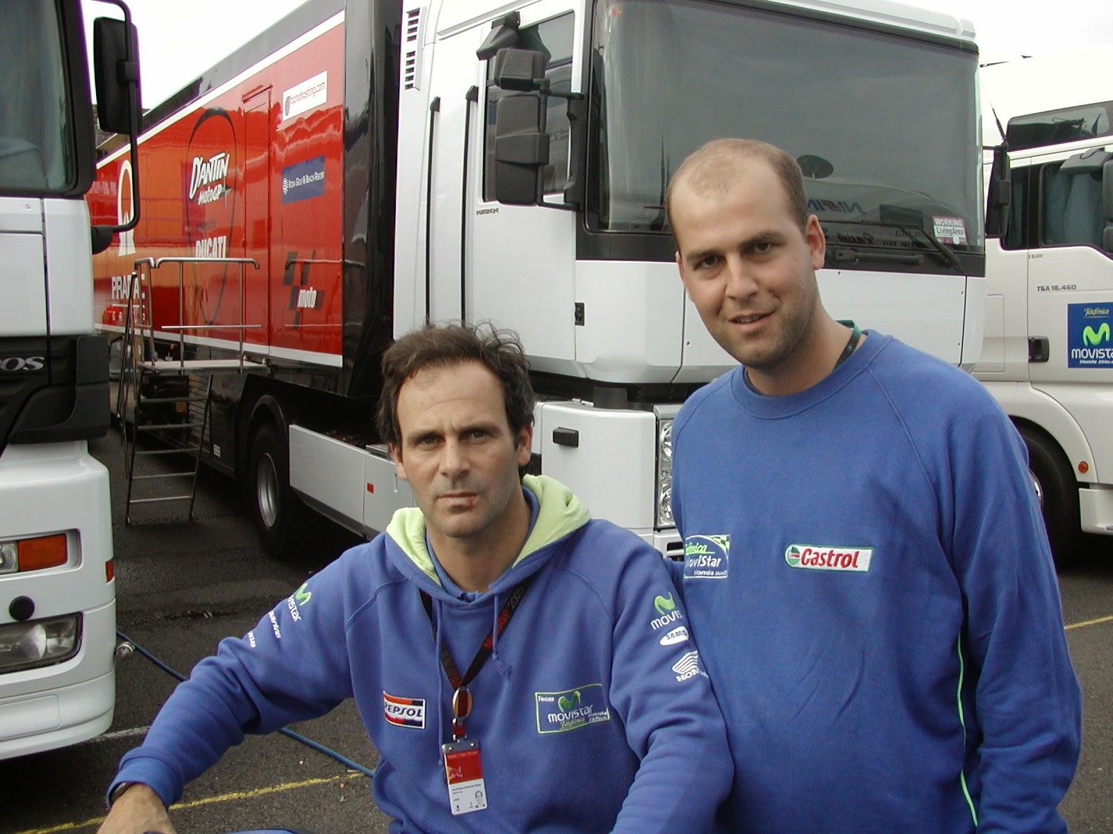 Alberto Puig en el circuito de Donington Park