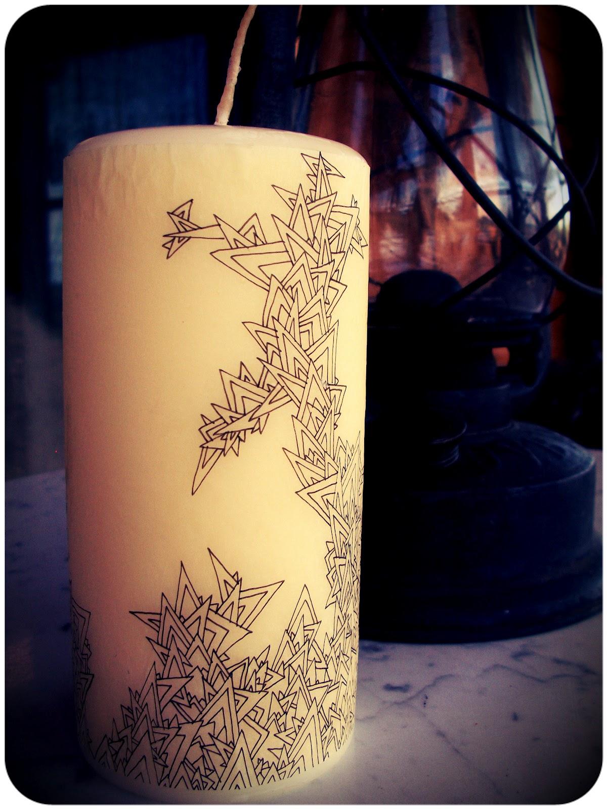 diy designer candles. halfway to hipster diy designer candles