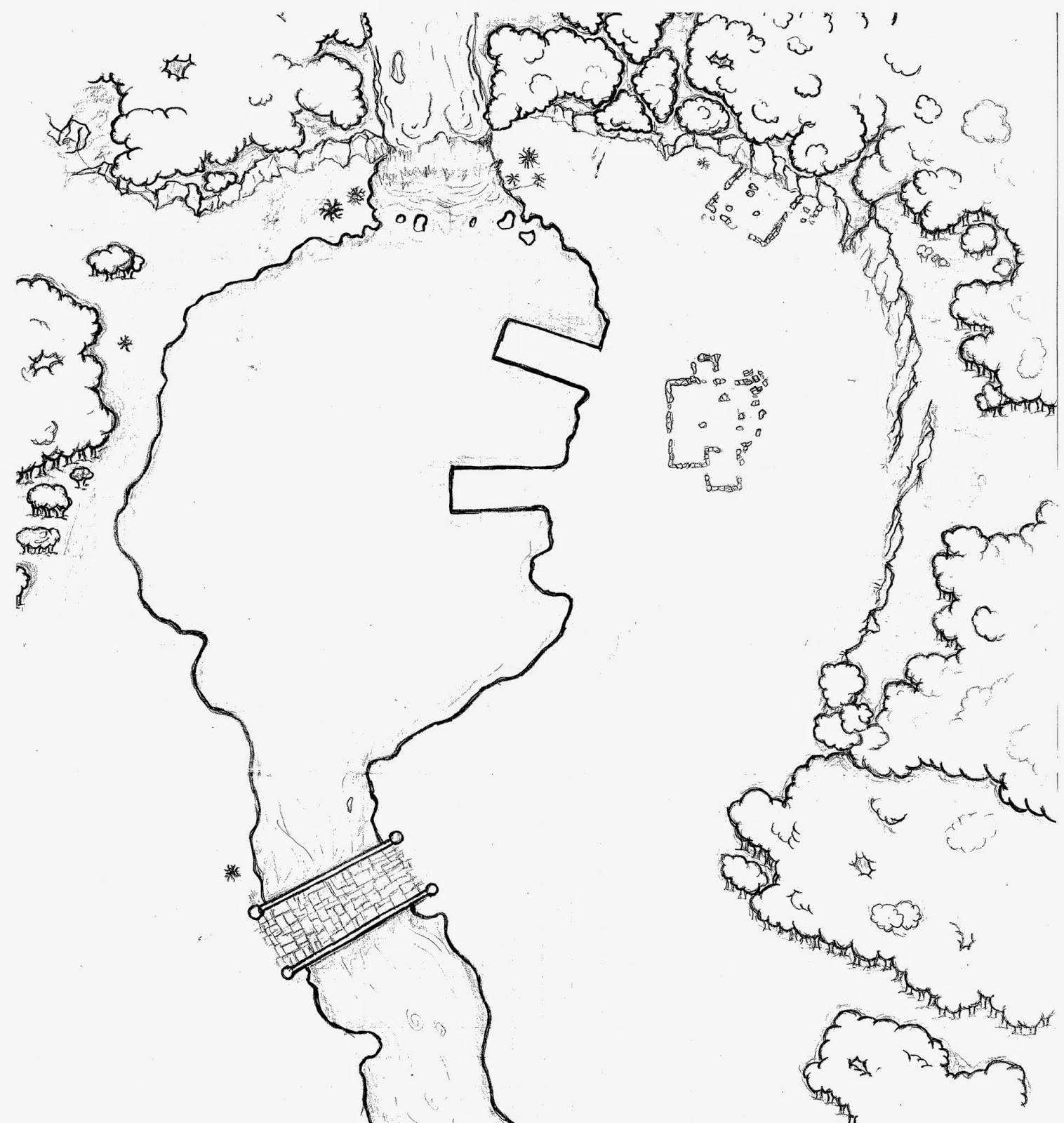 [Ayuda de Juego] Mapa. Los Alrededores de la Cascada.