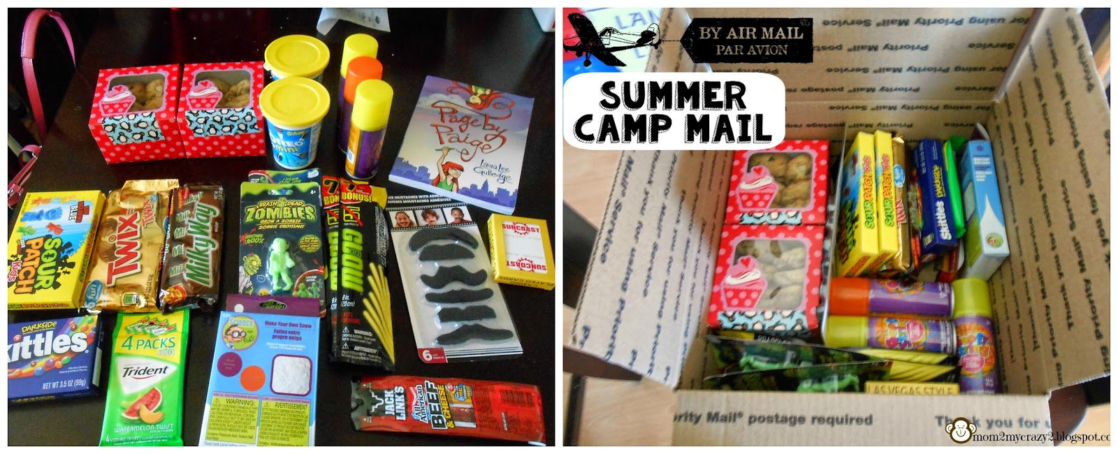 running away? i'll help you pack.: summer camp care package in the mail
