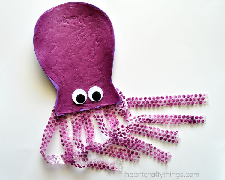 Puffy Paint Octopus Kid Craft I Heart Crafty Things