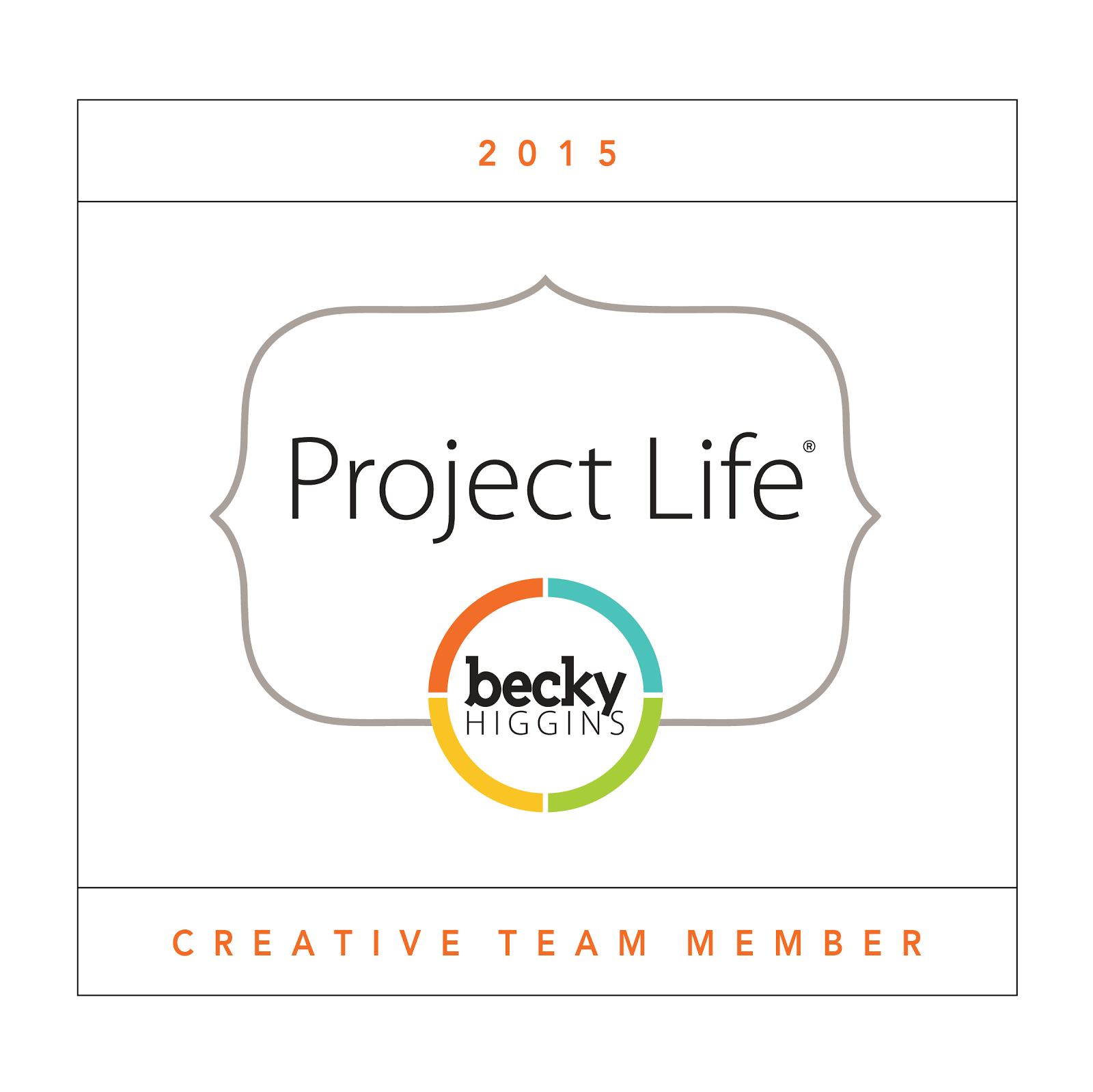 I'm a Project Life Creative Team 2015 member