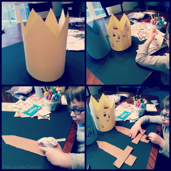 Homemade Crown and Sword for Pretend Play