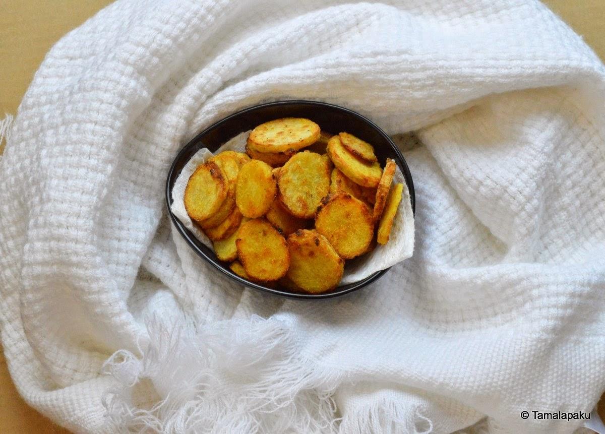 Baked Taro Chips