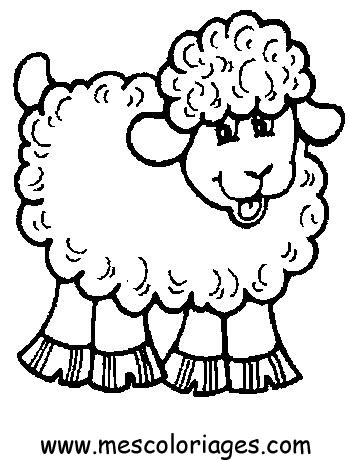 Miel mielusel imagini de colorat fisa de colorat desene - Mouton dessin ...