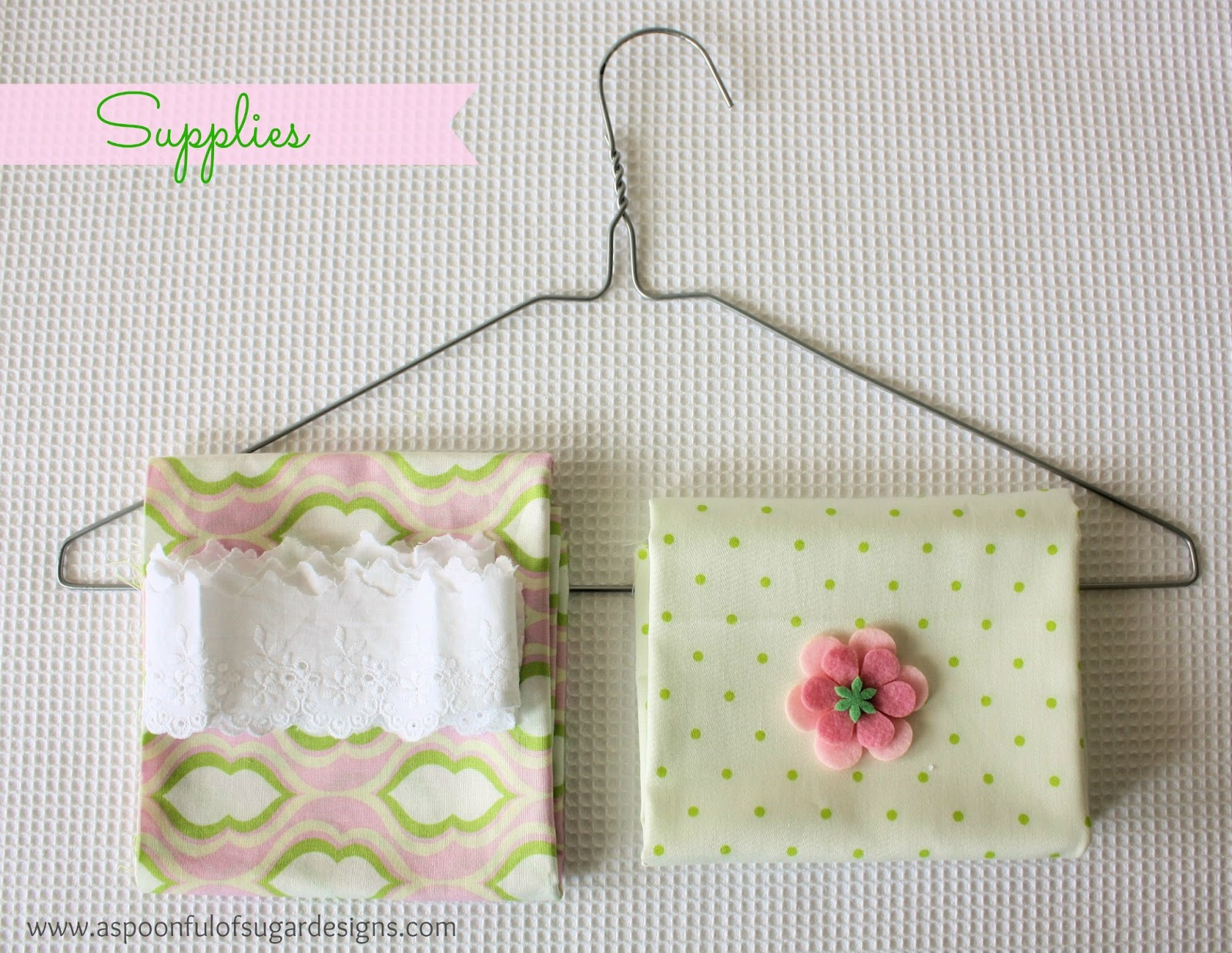 Coat Hanger Cover Tutorial A Spoonful Of Sugar