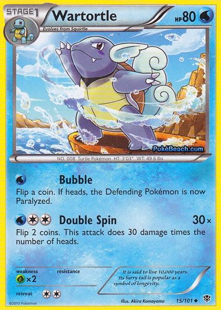 Wartortle Plasma Blast Pokemon Card