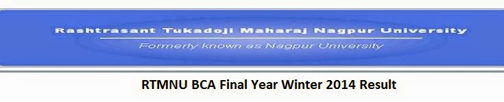 Nagpur University BCA Final Year Winter 2014 Result