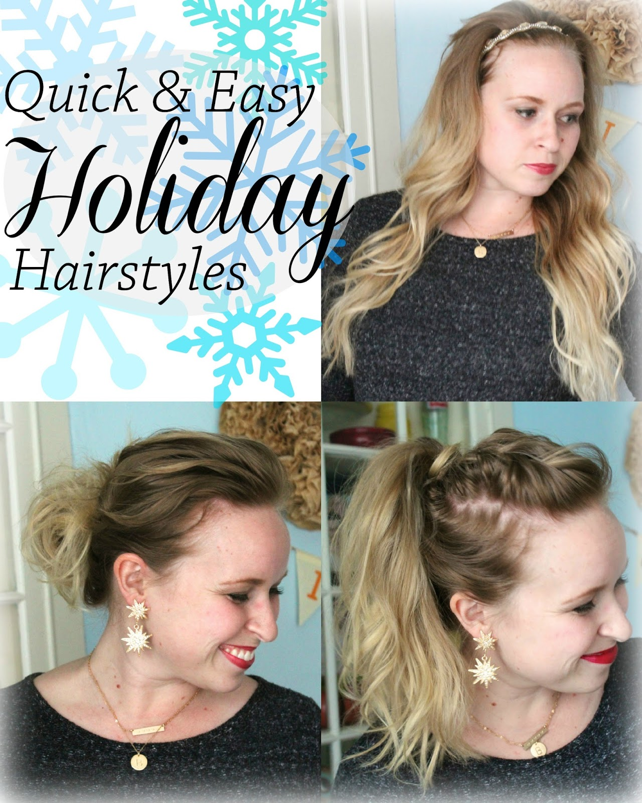 Fashion style Hairstyles Easy for the holidays pictures for lady