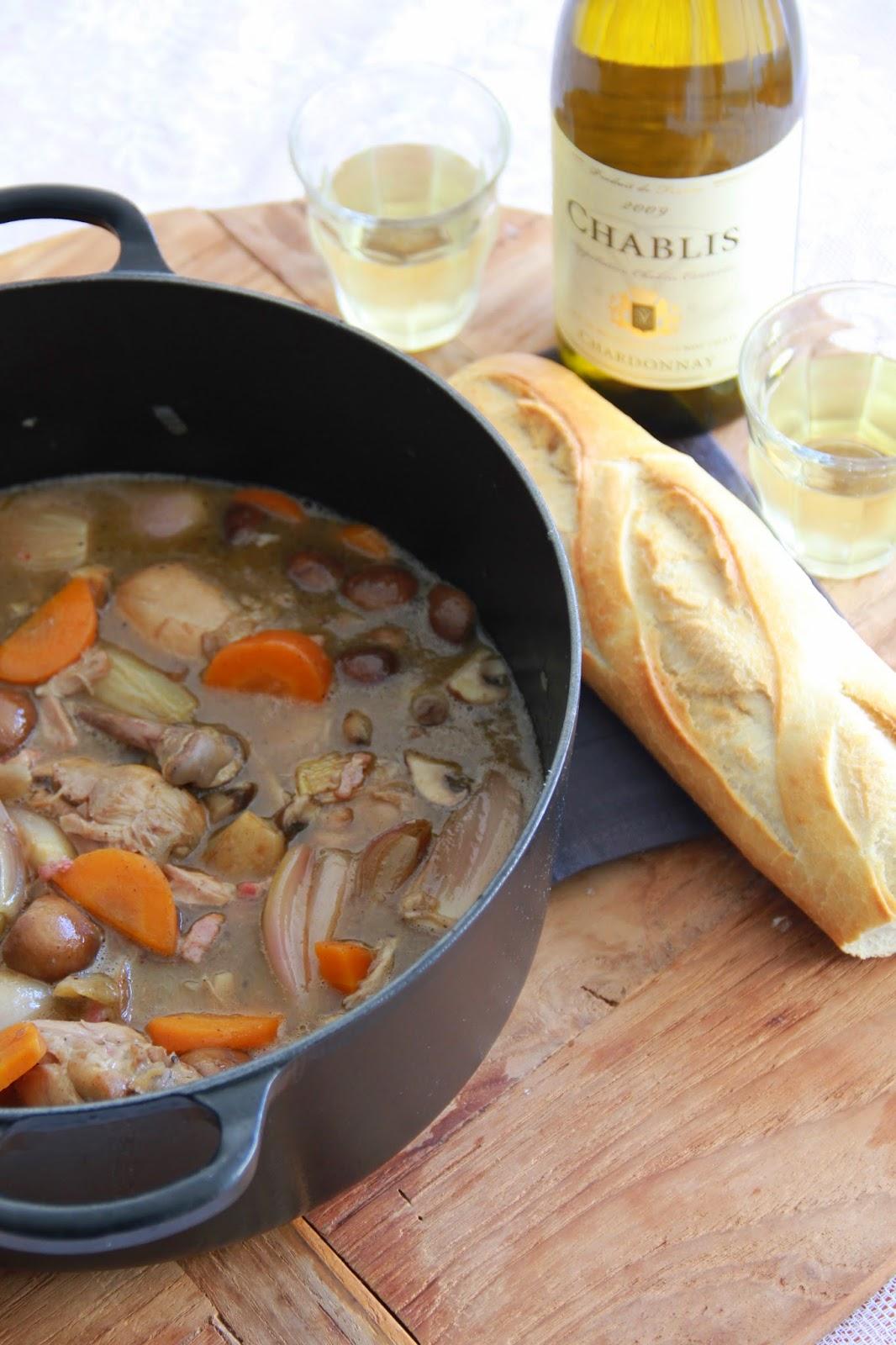 Coq au vin blanc - www.desmaakvancecile.com