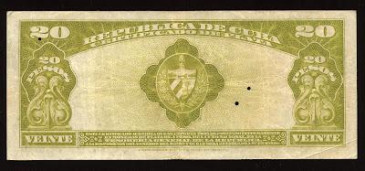 Cuba Pesos billete Certificado De Plata