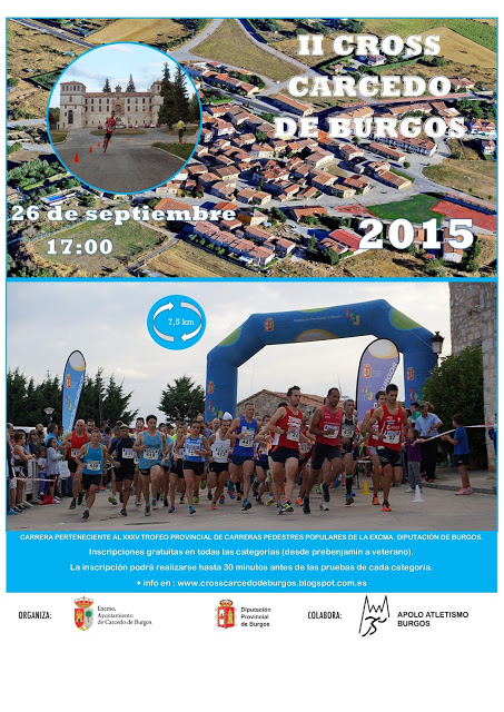 CARTEL II CROSS CARCEDO DE BURGOS 2015