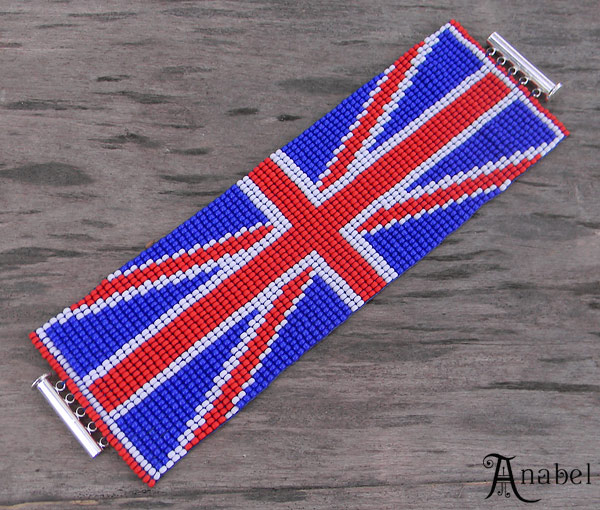 бисера с британским флагом