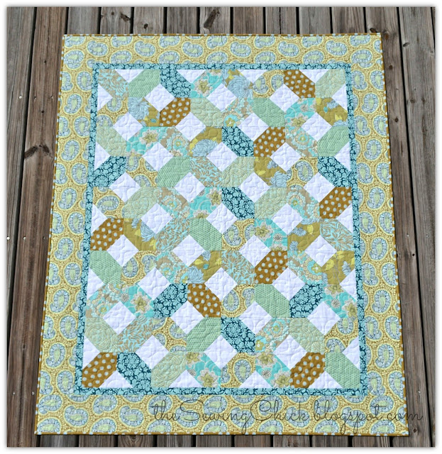 full flat of sea glass quilt
