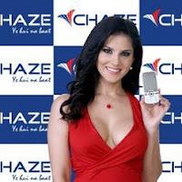 Sunny Leone CHAZE Mobile Brand Ambassador