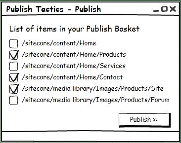 Sitecore Publish Basket - Sitecore Tactics