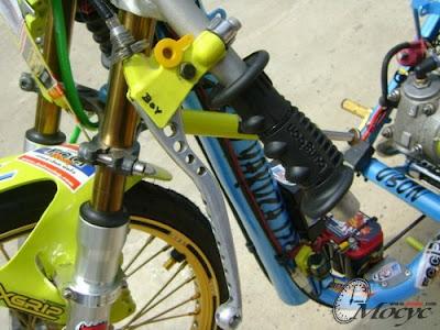 Modifikasi Yamaha Motor Gaya Drag Mio Thailand