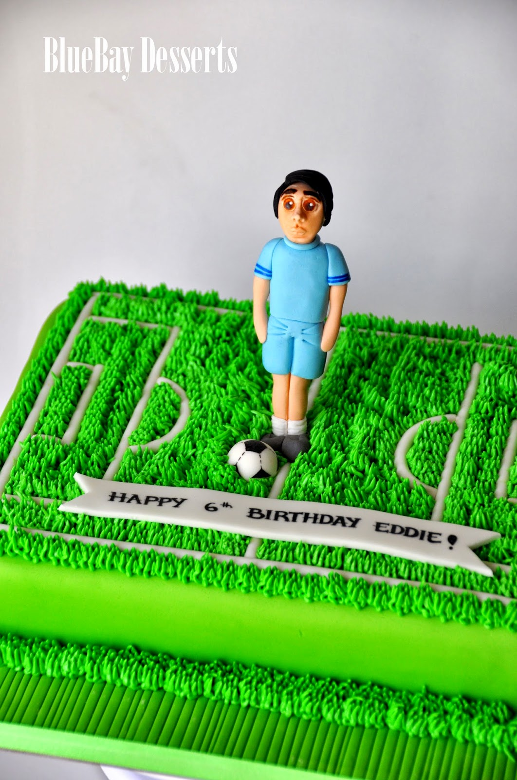 Football Pitch Cake Topper Football Pitch Birthday Cake