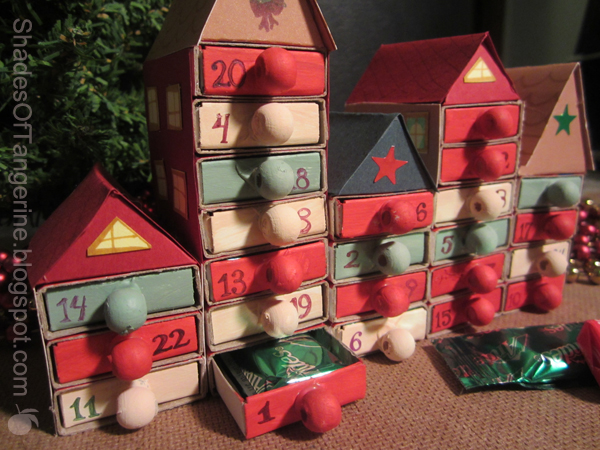 Diy Matchbox Advent Calendar : Shades of tangerine matchbox advent calendar diy