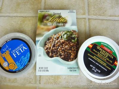 Trader Joe's Lentil, Bruschetta, Feta Dip