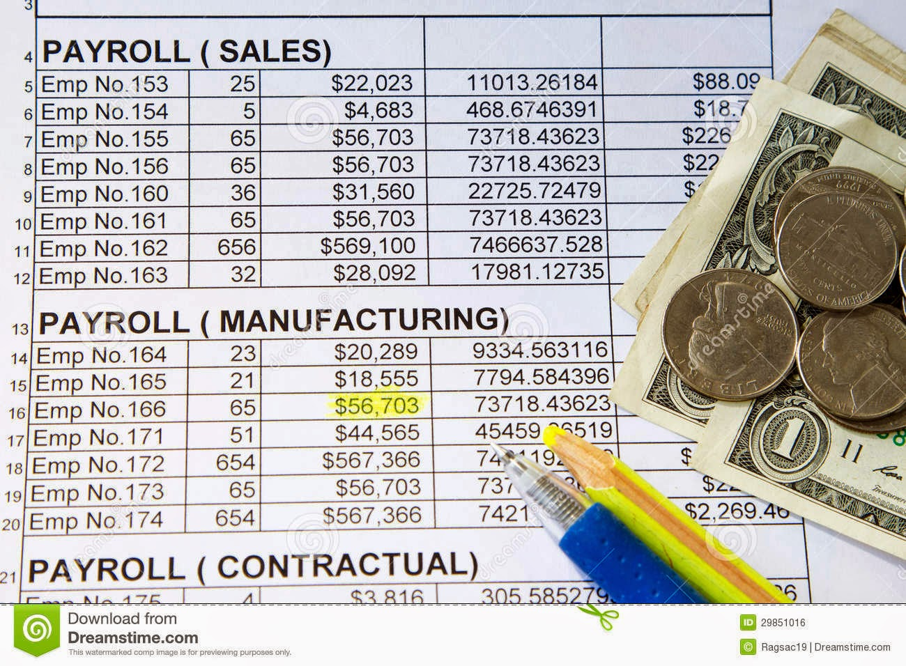 payroll spreadsheet