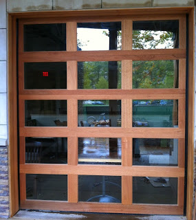 Wood Glass Garage Doors