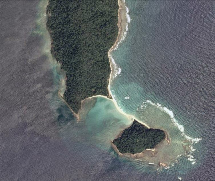 Satellite view of Ross and Smith Island