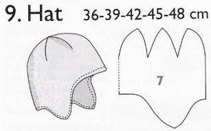 Выкройка шапки для девочки из флиса