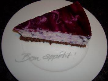 Torte mit heidelbeer joghurt