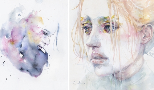 00-Silvia-Pelissero-agnes-cecile-Watercolor-and-Oil-Paintings-Fading-and-Appearing-www-designstack-co