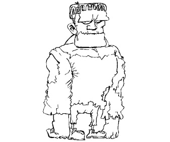 #7 Frankensteins Coloring Page