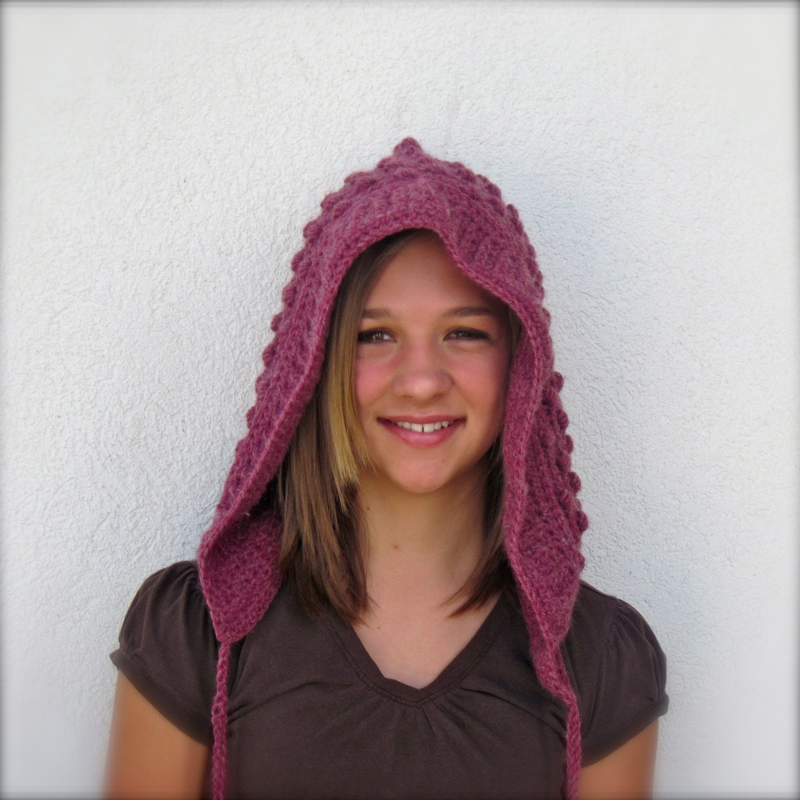 Taraduff\'s crochet and other stuff: Bobble Hood with Tassels Crochet ...